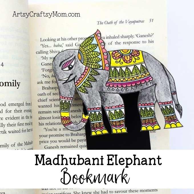 Madhubani elephant bookmark-2