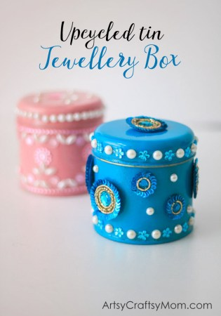 Kidmade Upcycled Tin Jewellery Boxes