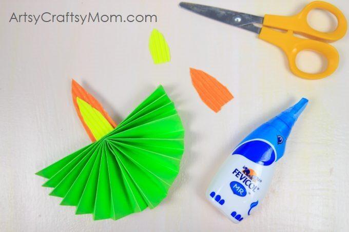 Accordion Fold Diwali Paper Diya Craft Artsy Craftsy Mom