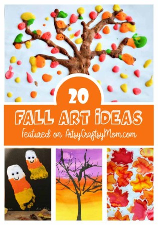 Jump into autumn with these 20 Fall Art Ideas for kids. Read on for plenty of kids' fall art projects including fall leaf painting, fingerprint corn,apple print pumpkins, footprint ghosts & more easy to make art projects for children