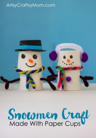 Absolutely Adorable Paper Cup Snowman Craft for Christmas