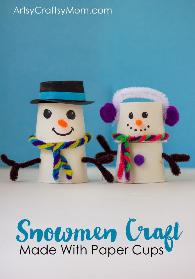 This Absolutely Adorable Paper Cup Snowman Craft Is Just What You Need On Your Mantle To