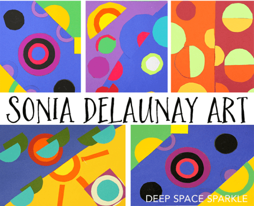 Learn all about the amazing artist Sonia Delaunay with these 7 Gorgeous Sonia Delaunay Art Projects for Kids, with art work, collages and more!