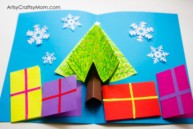 Easy 3D Christmas Tree Pop Up Card