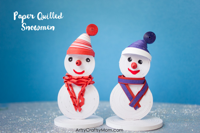 Paper Quilled Snowmen Craft For Kids 2