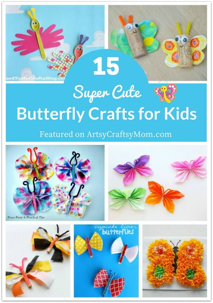 These super cute butterfly crafts for kids will make it seem like spring indoors, whatever the weather may be outdoors!