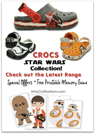 Double the excitement of watching the latest Star Wars movie with a new pair from the Crocs Disney Star Wars Collection!