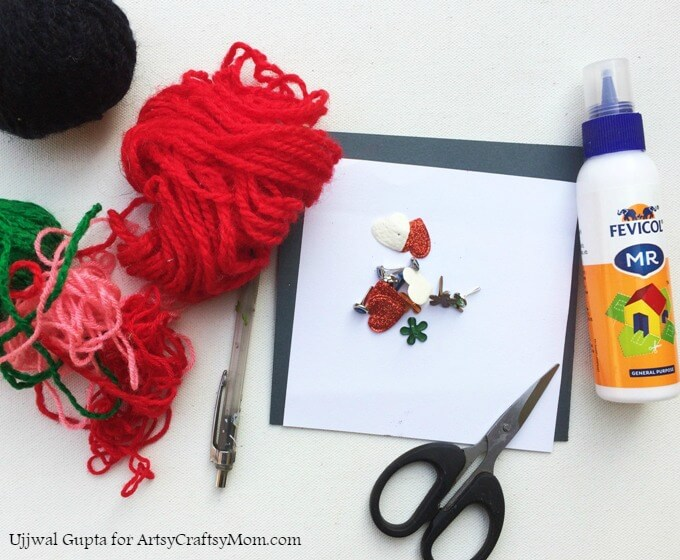 Step away from the pipe cleaners and googly eyes and try something different, like this kid-made Valentine's Day Card with Yarn! Great for kids of all ages!