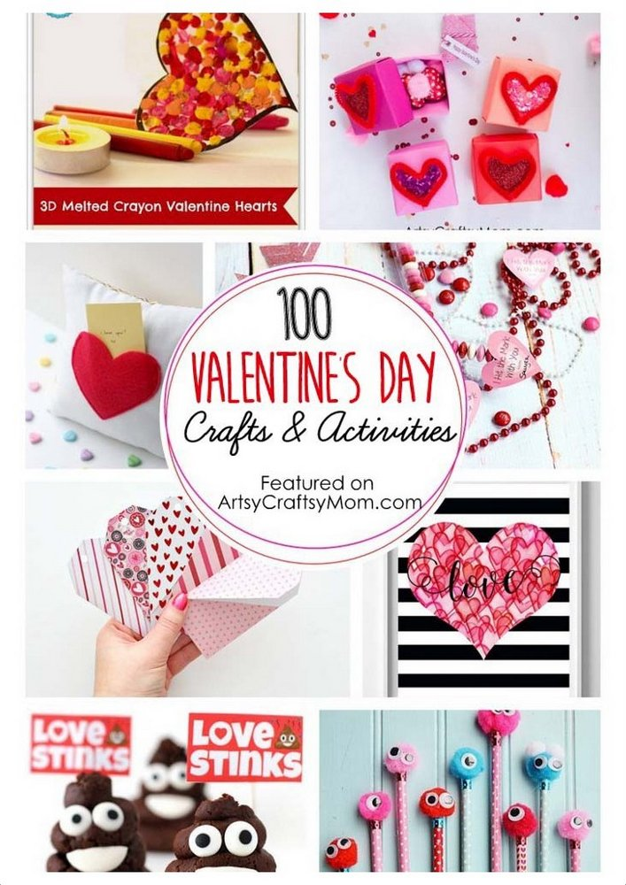 The Ultimate List of 100 Valentine's Day Crafts and Activities