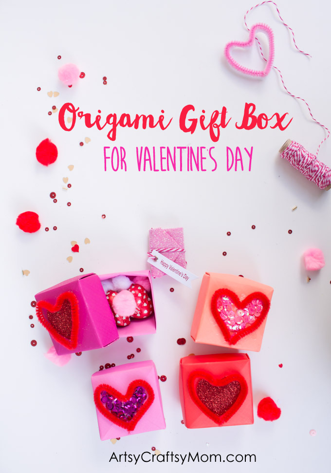 diy origami gift box for valentine u0026 39 s day