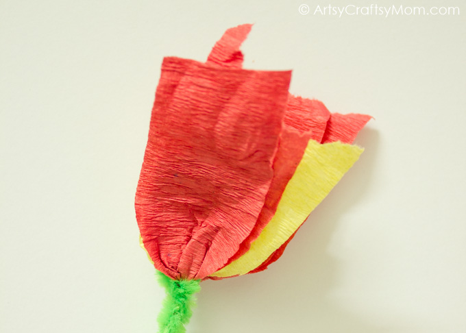 Handmade crepe paper flower cards artsy craftsy mom save mightylinksfo