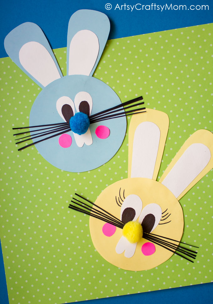 simple easter construction paper craft easy easter bunny paper craft artsy craftsy 7150