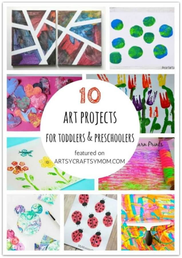 Don't let little kids feel left out when crafting! Here are 10 Art Projects for toddlers and preschoolers, designed specifically for them!