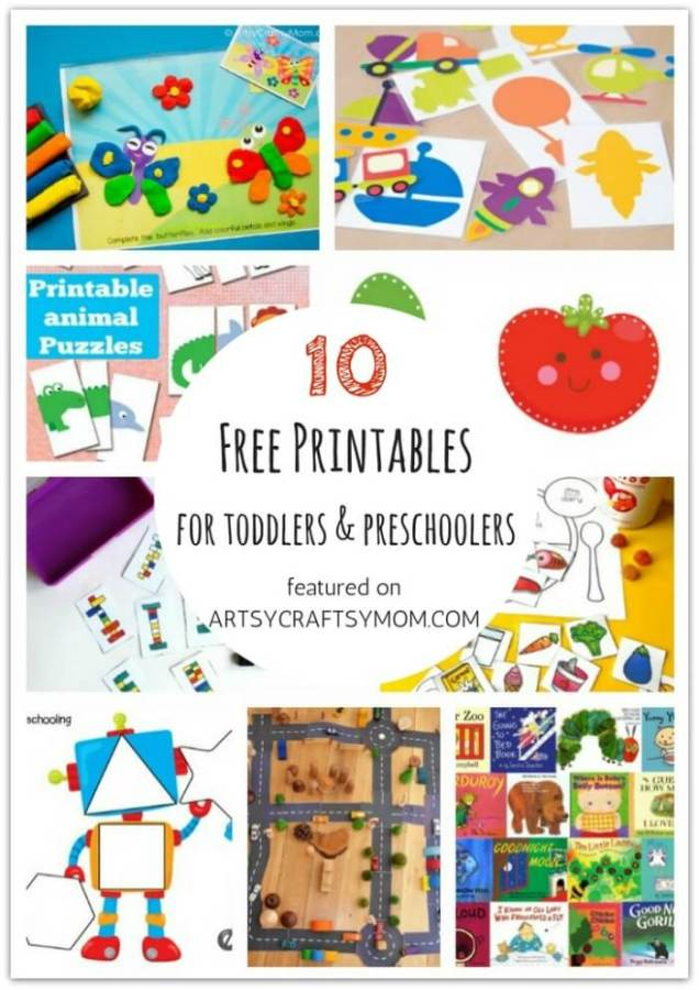 Don't let little kids feel left out when crafting! Here are 10 Free Printables for toddlers and preschoolers, designed specifically for them!