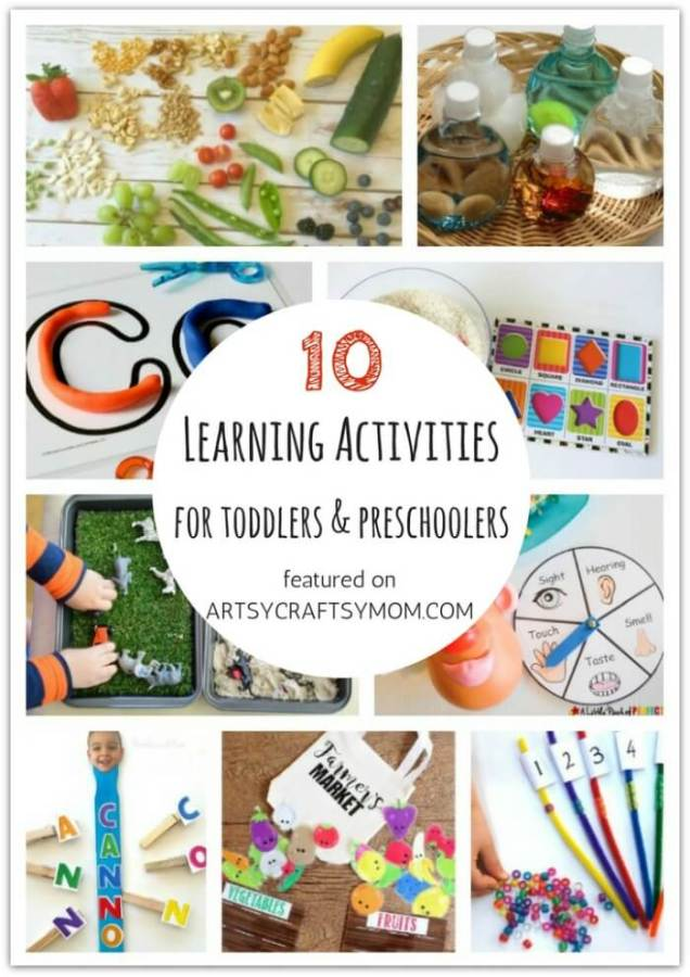 Don't let little kids feel left out when crafting! Here are 10 learning activities for toddlers and preschoolers, designed specifically for them!