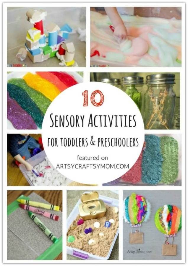Don't let little kids feel left out when crafting! Here are 10 Sensory activities for toddlers and preschoolers, designed specifically for them!