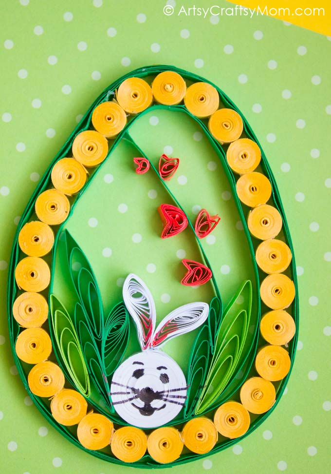 quilled easter egg craft