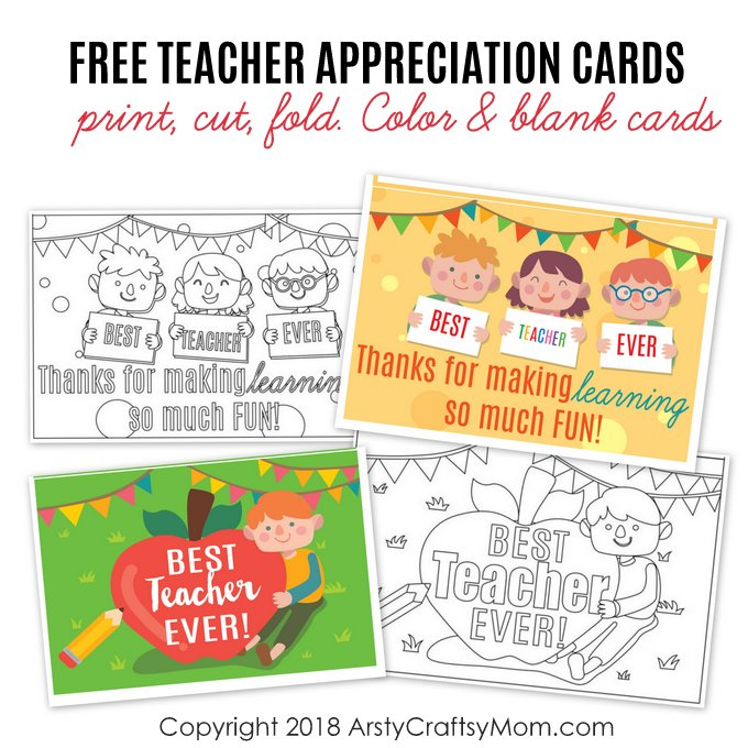 picture regarding Free Printable Teacher Appreciation Cards to Color titled Totally free Printable Instructor Appreciation Playing cards