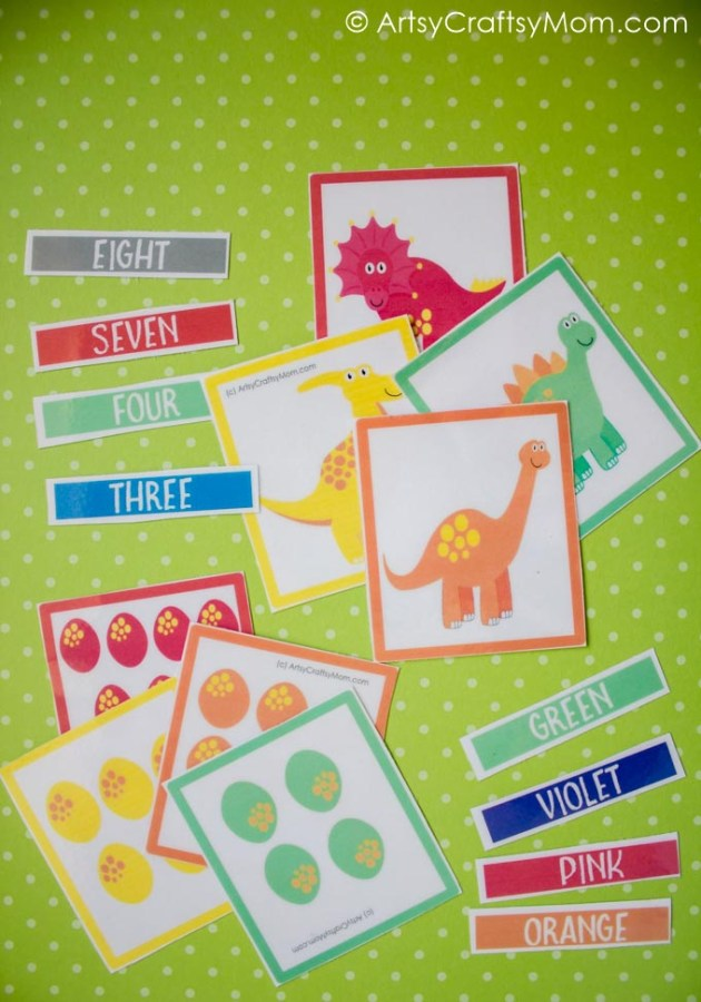 Do you have a little dinosaur fan at home? Then this Printable Dinosaur Egg Match Game is perfect, with colors, shapes, numbers and lots more!