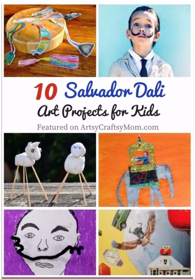 Salvador Dali was no ordinary person, & his art proves it! Teach kids to think outside the box with these 10 Surrealist Salvador Dali Art Projects for Kids.