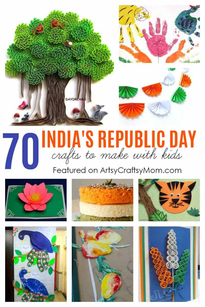 70 Crafts & Activities for India Independence day and republic day