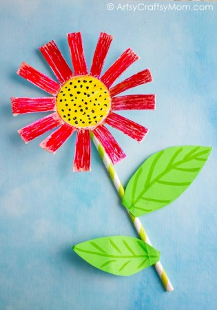 These Paper Cup Flowers are the perfect craft for kids as a spring kids craft, spring flower craft for kids and flower kids craft.