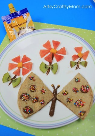 Butterfly Roti Sandwich with Pillsbury Choco Spread