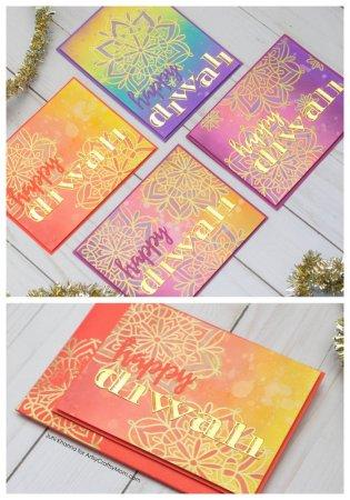 Rangoli Inspired Diwali Cards to Make at Home