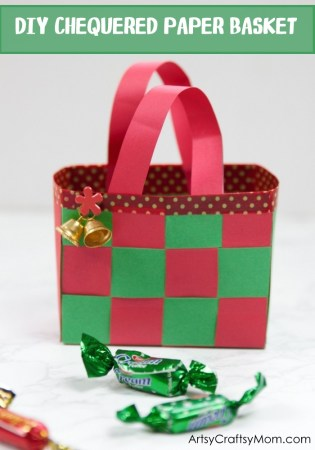 DIY Christmas Paper Basket Craft for Kids