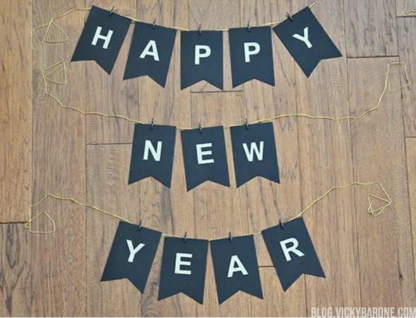 happy new year garland new year eves party ideas