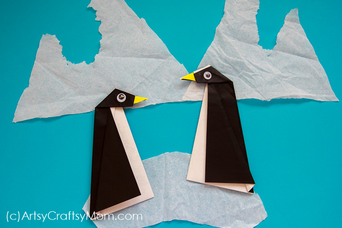 Easy Origami Penguin Craft For Kids