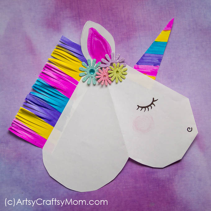 Origami Unicorn Bookmark Tutorial - How to Make A Paper Unicorn ... | 680x680