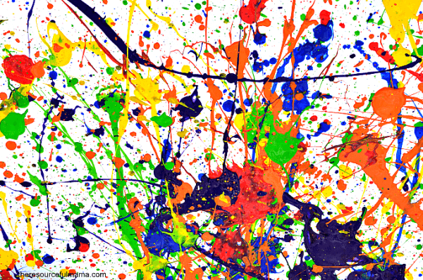 Jackson Pollock Art Projects for Kids