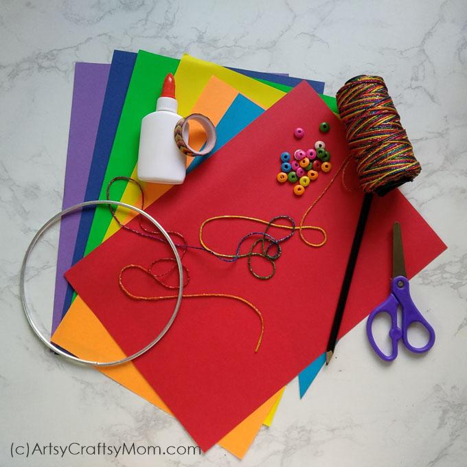 Sankranti Craft For Kids DIY Paper Kite Mobile