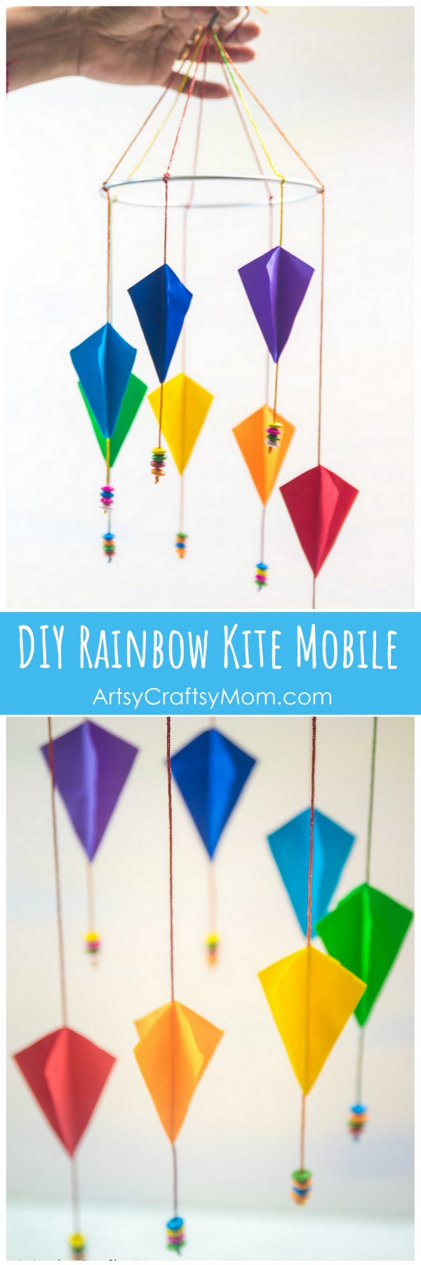 Sankranti craft for kids diy paper kite mobile artsy craftsy mom easy step by step instructions on how to make this sankranti craft for kids diy jeuxipadfo Image collections