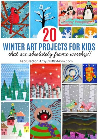 Capture the beauty of the season with these 20 Winter Art Ideas for Kids that are truly frame-worthy! From penguins to landscapes - everything is art!