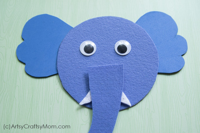 E for Elephant Craft would be a great supplement to your Letter of the week curriculum,studying the letter E, talking about wild animals, Studying about mammals or if you have a Safari theme birthday party.