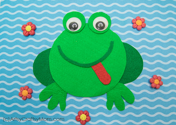 F For Frog Craft With Printable Template Artsy Craftsy Mom