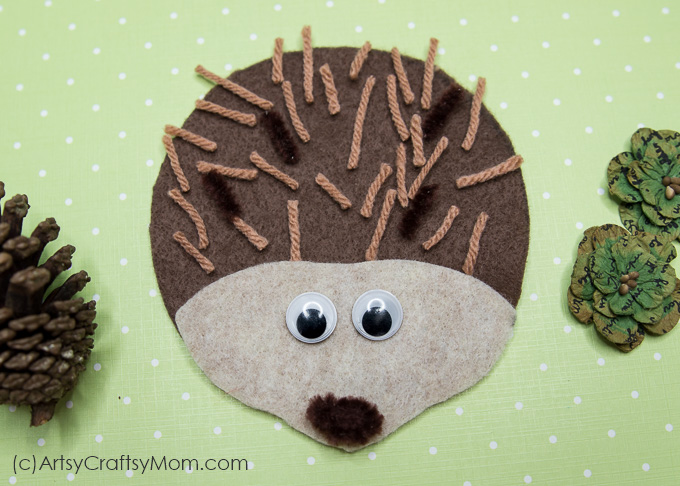 h for hedgehog craft with printable template