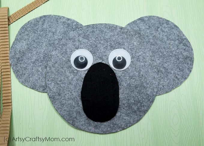 k for koala craft with printable template