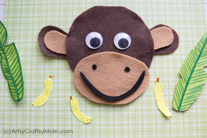 M For Monkey Craft With Printable Template