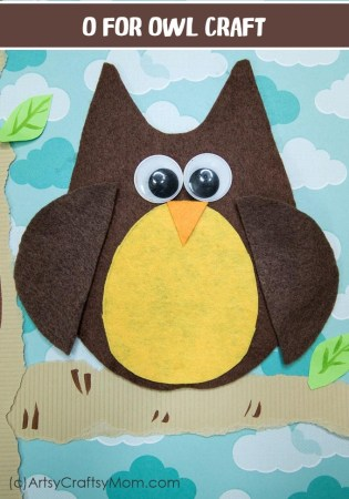 O for Owl Craft with Printable Template