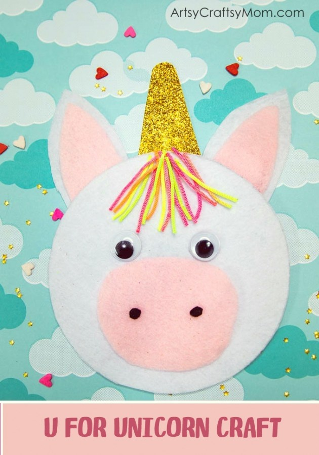 U For Unicorn Craft With Printable Template Artsy