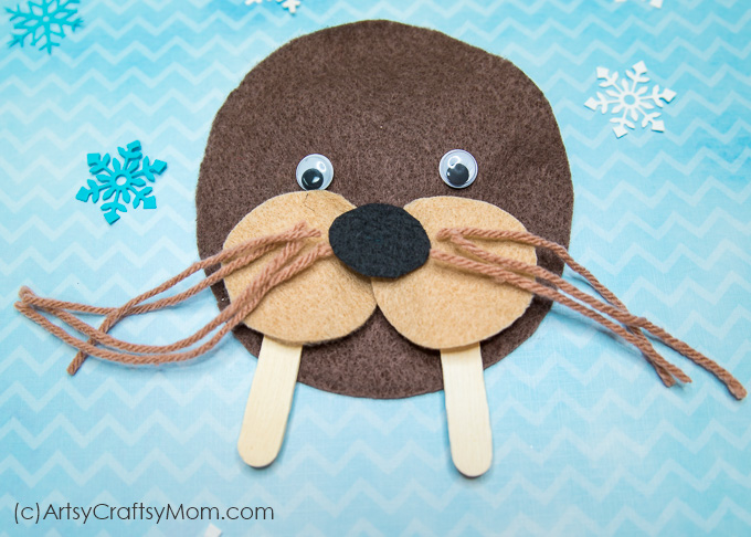Make this adorable W for Walrus Craft using our Printable Template that's perfect for learning about marine animals, the Arctic Circle, endangered species or the Letter W.