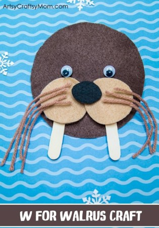 W for Walrus Craft with a Printable Template