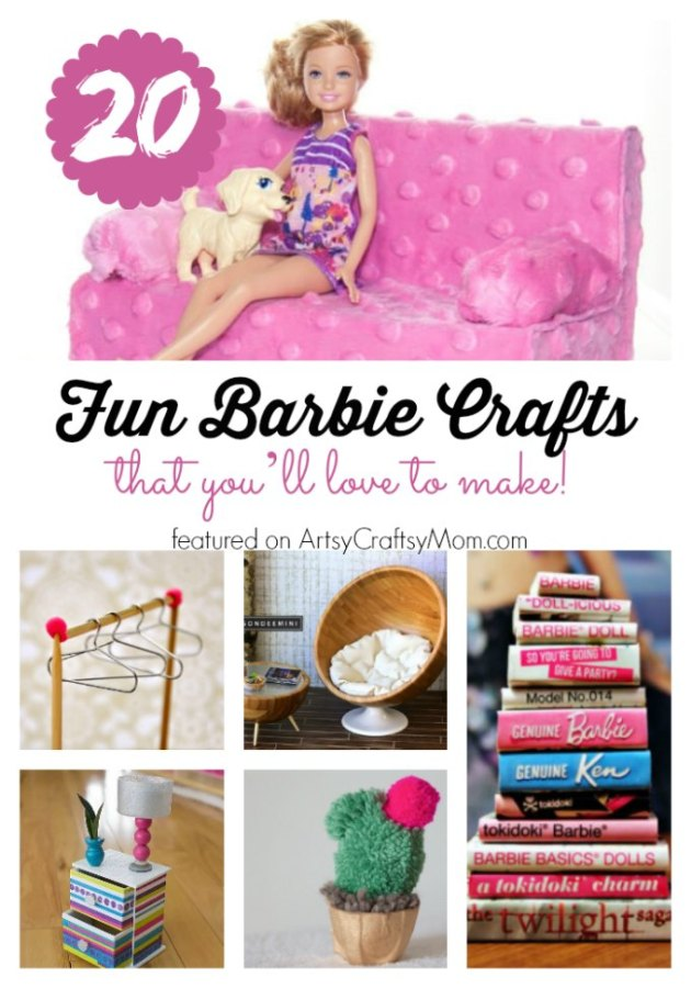 If you've got a Barbie doll or a Barbie lover at home, then you have got to check out these Amazing Barbie Crafts that are just too cute for words!