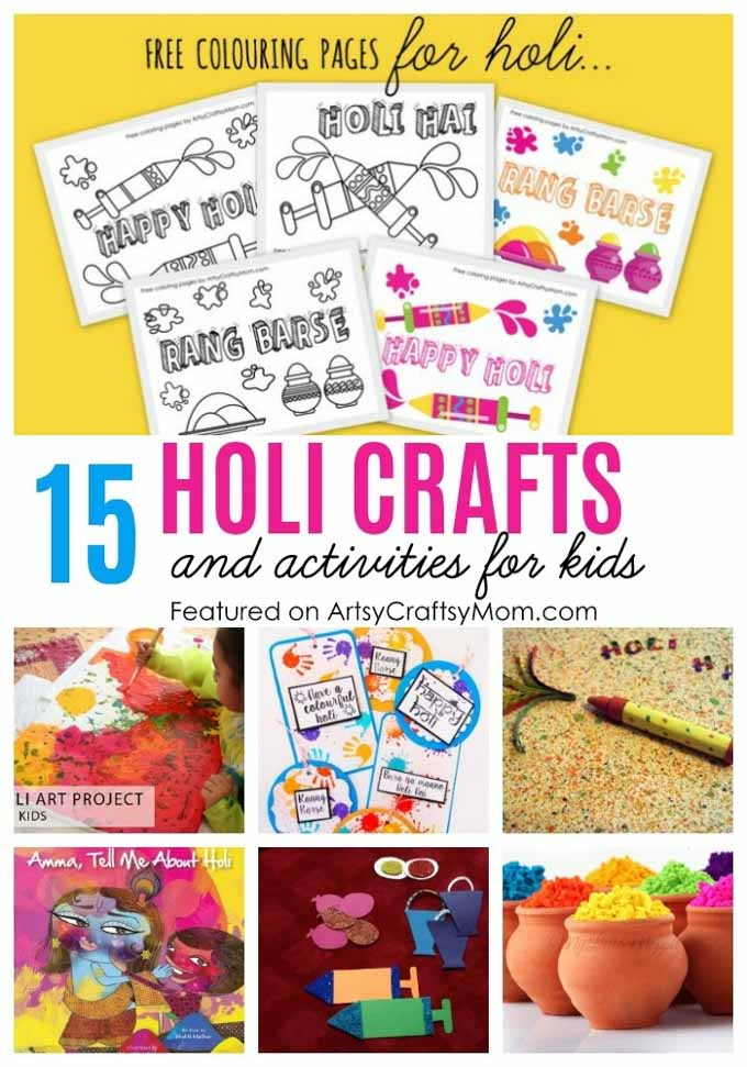 15 Amazingly Fun Holi Crafts And Activities For Kids Artsy Craftsy Mom
