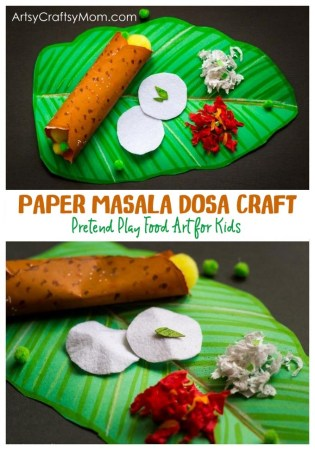 Pretend Play Food – Paper Masala Dosa Craft for Kids