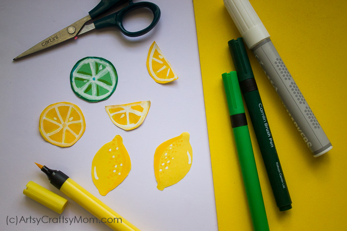 Enjoy summer with a cool frosted lemonade paper craft - you'll realize that you can make lemonade out of anything life gives you - including craft paper!