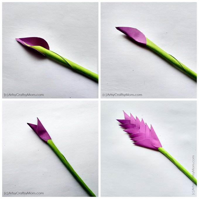 Our paper Heliconia flower craft is easy to make & helps kids appreciate the beautiful alternate petal arrangement that gives the flower it's unique allure.